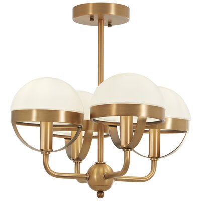 Philippa 4-Light Semi Flush Mount