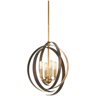Philomena 4-Light Geometric Pendant Size: 21.5 H x 20 W x 20 D