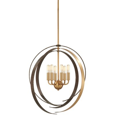 Philomena 6-Light Geometric Pendant Size: 25.75 H x 24 W x 24 D