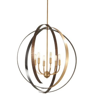 Philomena 6-Light Geometric Pendant Size: 32.5 H x 30 W x 30 D