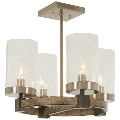Lisk 4-Light Semi Flush Mount
