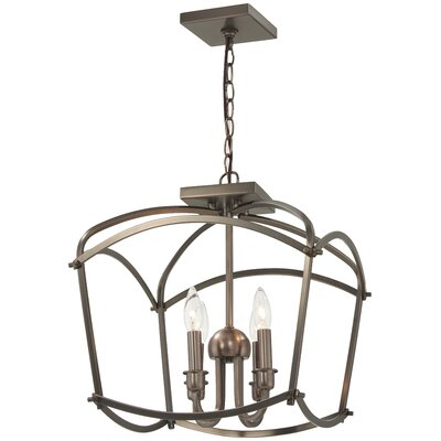 Maughan 4-Light Semi Flush Mount Fixture Finish: Harvard Court Bronze