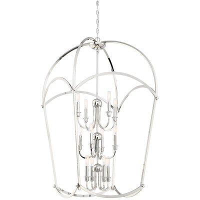 Maughan 12-Light Foyer Pendant Finish: Polished Nickel