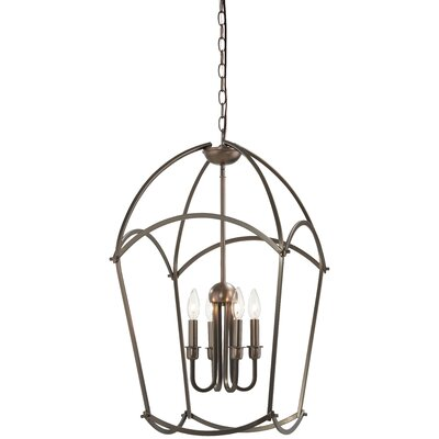 Maughan 4-Light Foyer Pendant Finish: Harvard Court Bronze