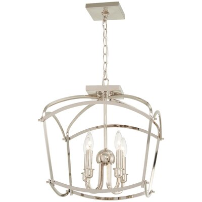 Maughan 4-Light Semi Flush Mount Fixture Finish: Polished Nickel