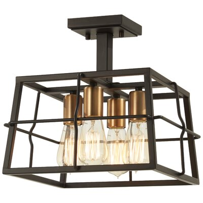 Croyle 4-Light Semi Flush Mount