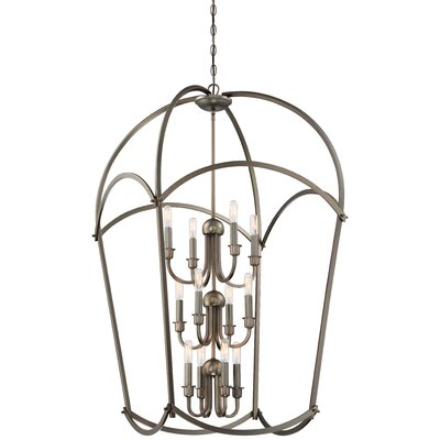 Maughan 12-Light Foyer Pendant Finish: Harvard Court Bronze