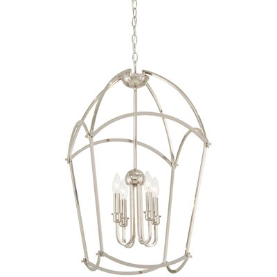 Maughan 4-Light Foyer Pendant Finish: Polished Nickel