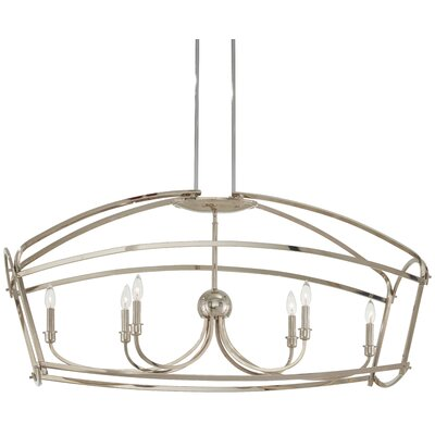 Maughan 6-Light Geometric Pendant Finish: Polished Nickel