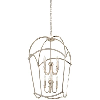 Maughan 8-Light Foyer Pendant Finish: Polished Nickel