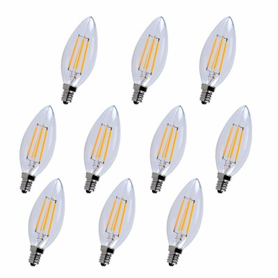 4W E12/Candelabra LED Vintage Filament Light Bulb Bulb Temperature: 3000K