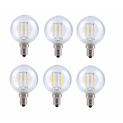 2.5W E12/Candelabra LED Vintage Filament Light Bulb