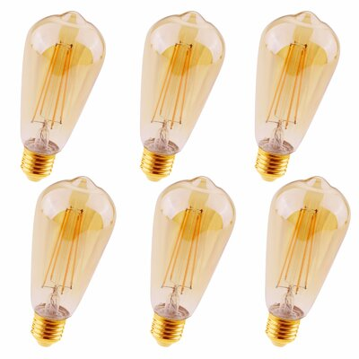 4W Medium E26 LED Vintage Filament Light Bulb