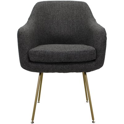 Lucinda Upholstered Dining Chair Upholstery: Dark Gray