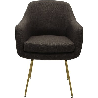Lucinda Upholstered Dining Chair Upholstery: Brown