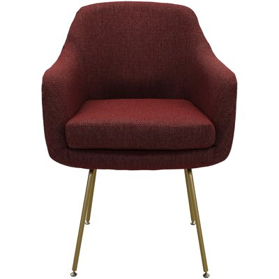 Lucinda Upholstered Dining Chair Upholstery: Raja Red