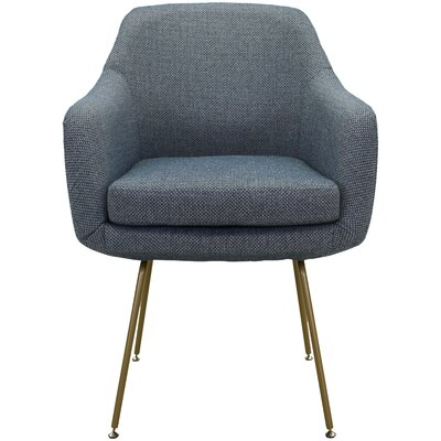 Lucinda Upholstered Dining Chair Upholstery: Ocean Blue