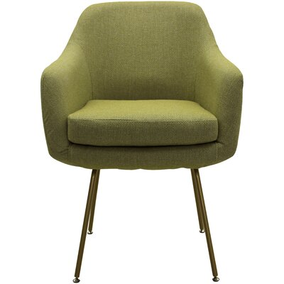 Lucinda Upholstered Dining Chair Upholstery: Moss Green