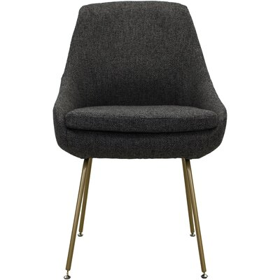 Luna Upholstered Dining Chair Upholstery: Dark Gray