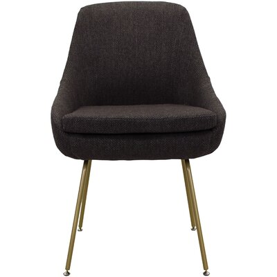 Luna Upholstered Dining Chair Upholstery: Brown