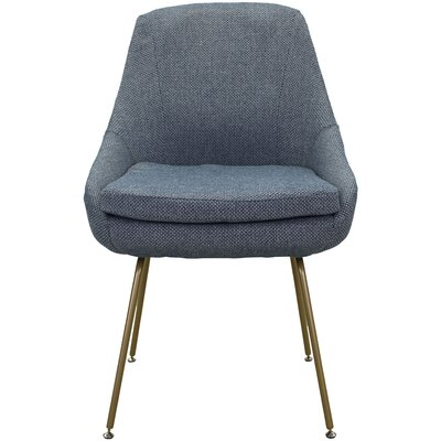 Luna Upholstered Dining Chair Upholstery: Ocean Blue
