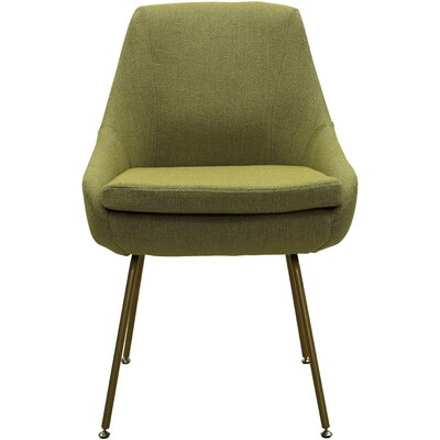 Luna Upholstered Dining Chair Upholstery: Moss Green