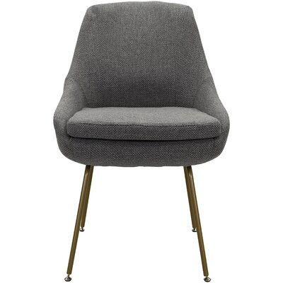 Luna Upholstered Dining Chair Upholstery: Light Gray