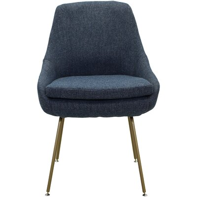 Luna Upholstered Dining Chair Upholstery: Marine Dark Blue