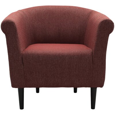 Moldenhauer Club Chair Upholstery: Raja Red