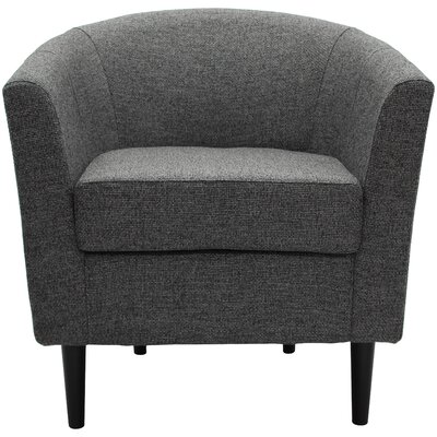 Molinari Club Chair Upholstery: Dark Gray