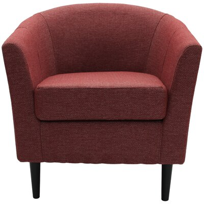 Molinari Club Chair Upholstery: Raja Red