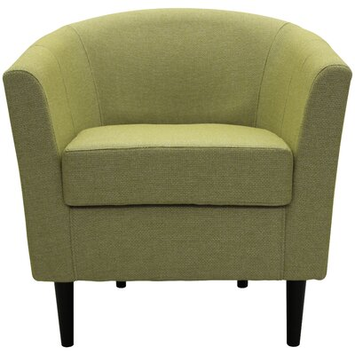 Molinari Club Chair Upholstery: Moss Green