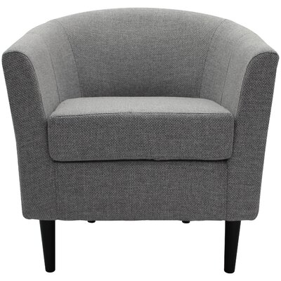 Molinari Club Chair Upholstery: Light Gray