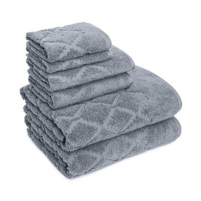 Thoman Diamond Textured 6 Piece Towel Set Color: Gray Flannel