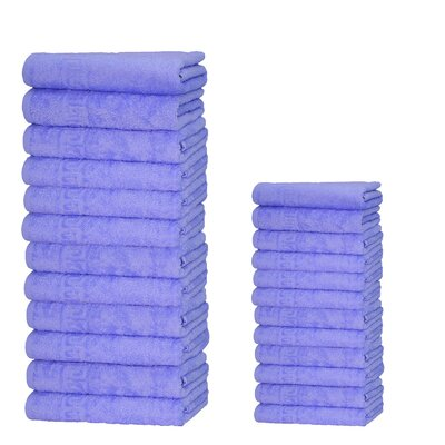Graziano 100% Cotton 24 Piece Towel Set Color: Lavender