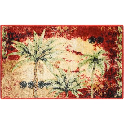 Edmonton Accent D�cor Beige/Red Area Rug