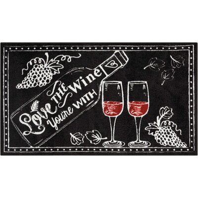 Woodberry Accent D�cor Black/White Area Rug Rug Size: Rectangle 22 x 39