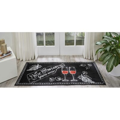 Woodberry Accent D�cor Black/White Area Rug Rug Size: Rectangle 110 x 46