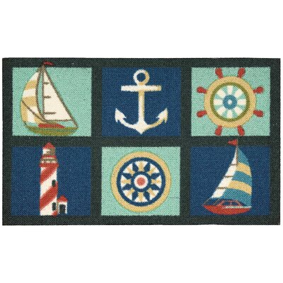 Orton Navy/Turquoise Area Rug