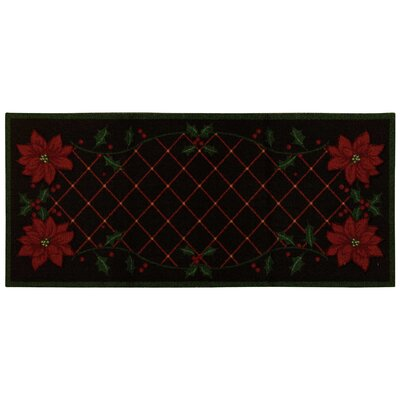 Downton Black/Red Area Rug