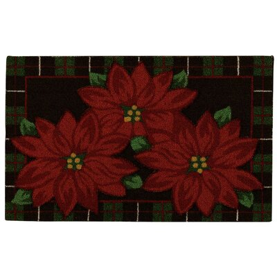 Bryson Black/Red Area Rug