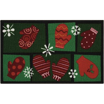 Doyers Green/Red Area Rug