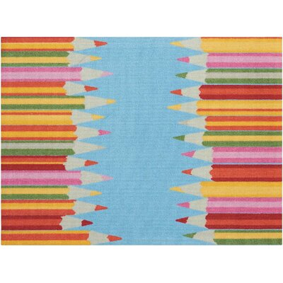 Hickmon Blue/Red Area Rug