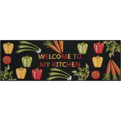 Woodby Black/Yellow Area Rug Rug Size: Rectangle 18 x 411