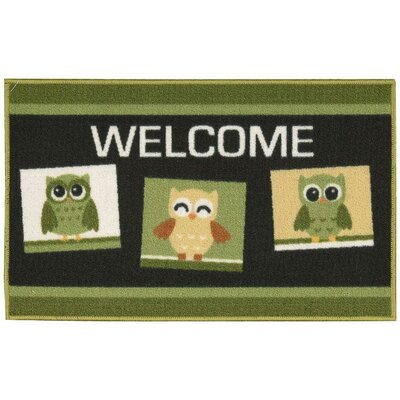 Woodby Green/Black Area Rug