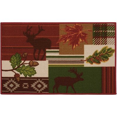 Pineda Red/Green Area Rug