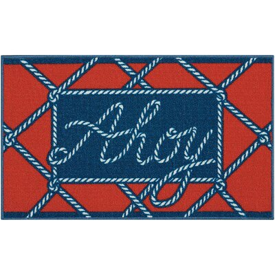 Custis Navy/Red Area Rug