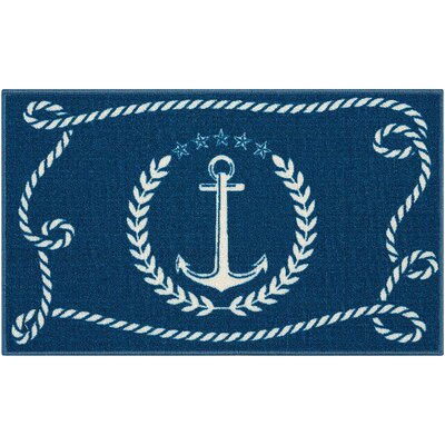 Custis Navy Area Rug
