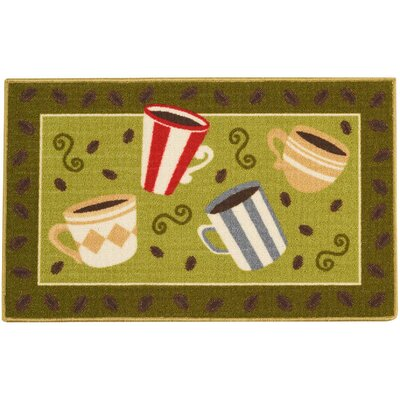 Woodby Green Area Rug