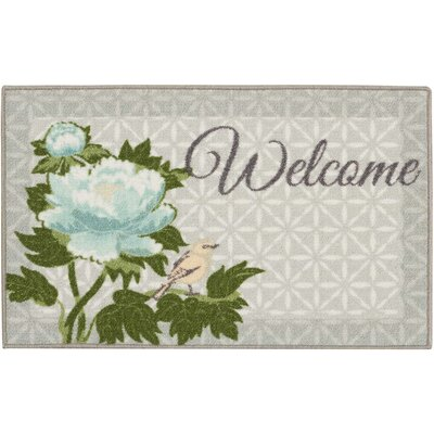 Woodby Aqua/Gray Area Rug